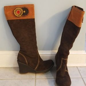 Jeffrey Campbell brown suede bohosi boots